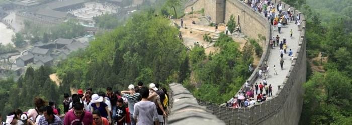 Chineses na Grande Muralha