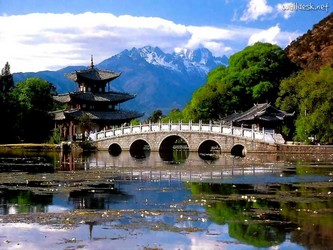 Pavilhão da Princesa na Piscina do Dragão - Yunnan